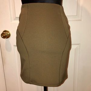 Dresses & Skirts - Olive Green Stretchy Pencil Skirt size Small